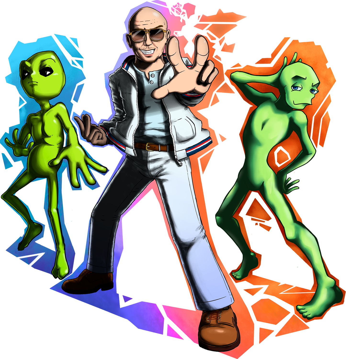 Pitbull and the Aliens