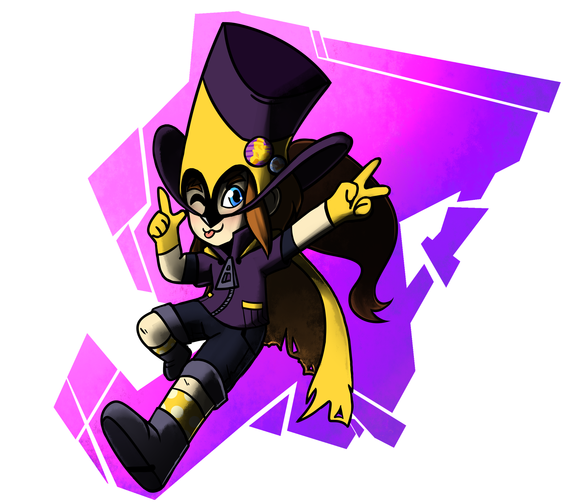 Hat Kid dives onto the scene as a Beta-Mix Phantom Thief!<br />Art by Coach, Note: Hat Kid is not a bonus character and also can not receive any arrangements!